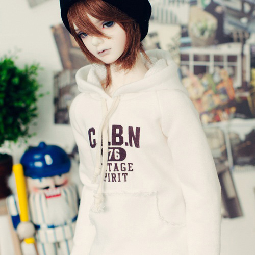 SD17 Boy Vintage Spirit Hooded T - White