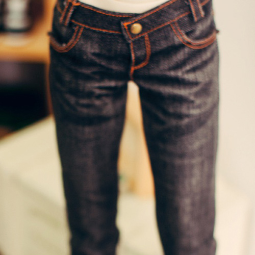 SD17 Boy Slim Black Washing Jeans