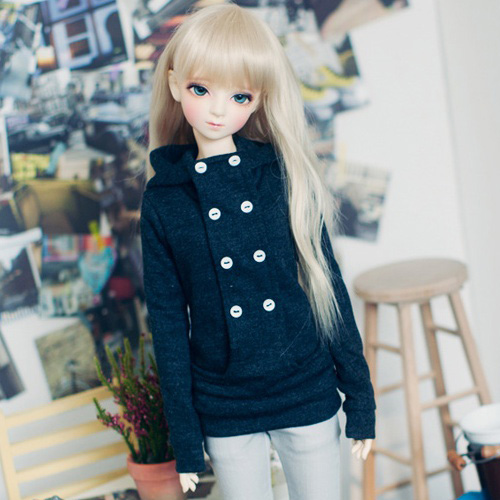 SD13 Girl Chic Hooded T - D.Gray