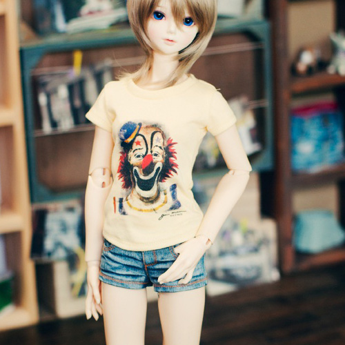 SD13 Girl Wasing Denim Hot Pants