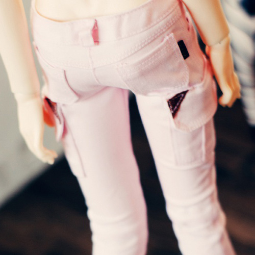 SD13 Girl Skinny Cargo Pants - Pink
