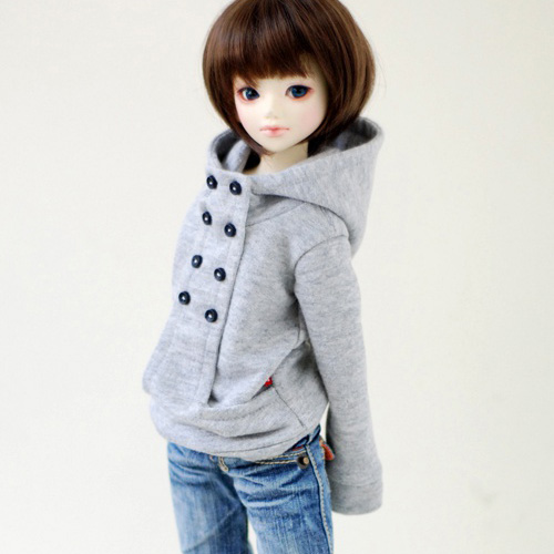 MSD Chic Hooded T - Gray