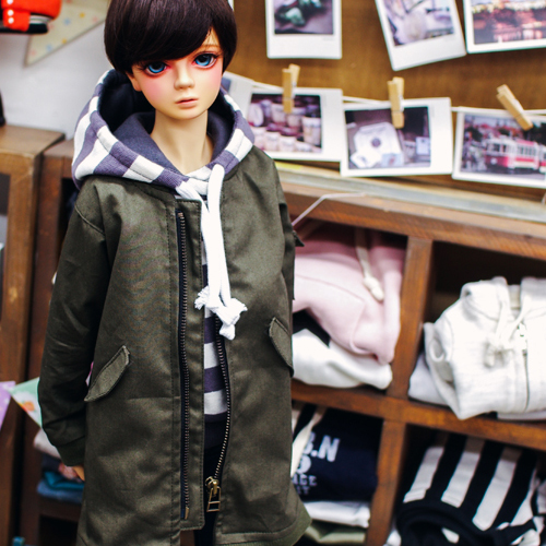 SD13 Boy Long Airlines Jumper - Khaki