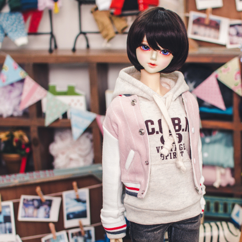 SD13 Girl Baseball Stripe Jumper - Pink