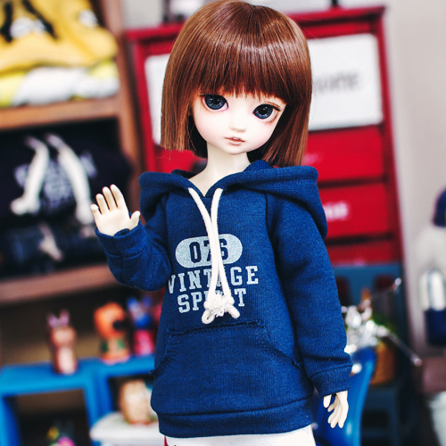 Bunny Vintage spirit Hooded T - Navy