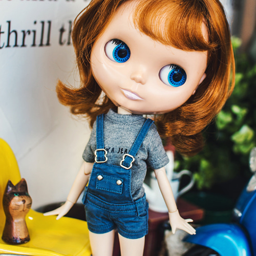 Blythe Washing Cotton Overall - Blue
