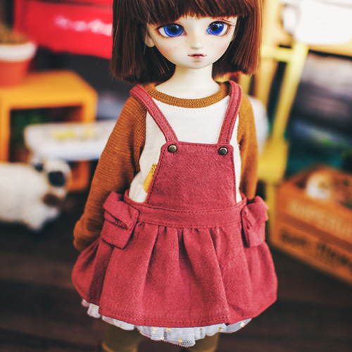 USD Cotton Skirts Overall - Redbrown