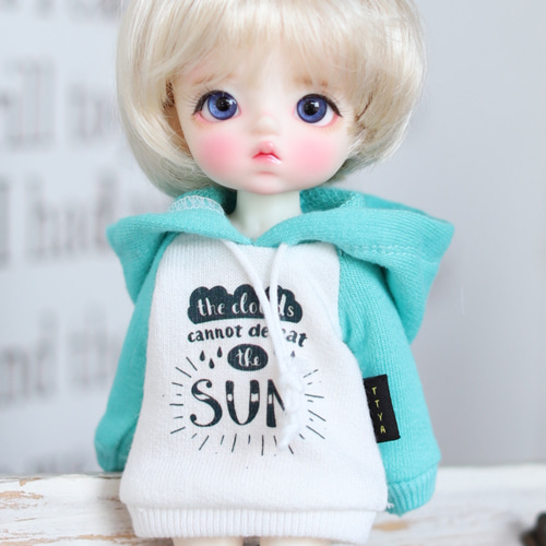 SUN Hooded T - Mint