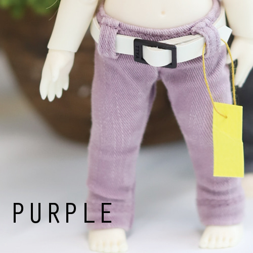 Washing Cotton Pants - Purple