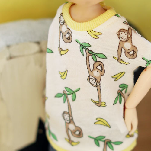 Blythe Monkey T shirt - White
