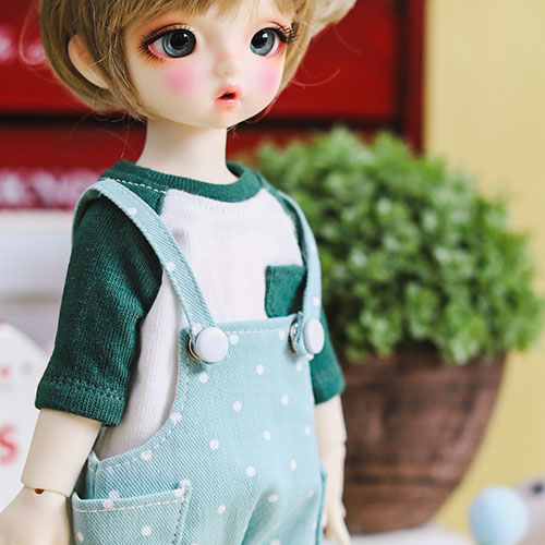 USD Dot Baggy Short Overalls - Mint