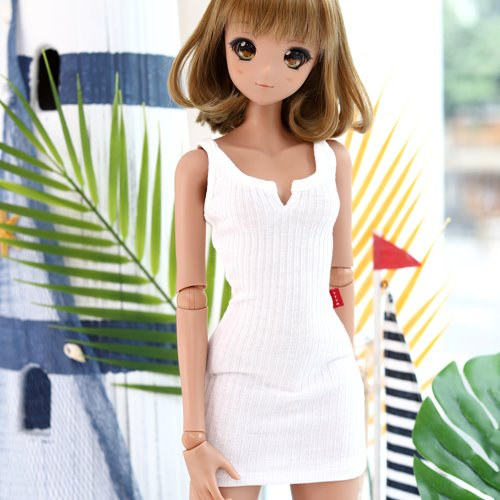 SD13 GIRL & Smart Doll Sleeveless Dress - White