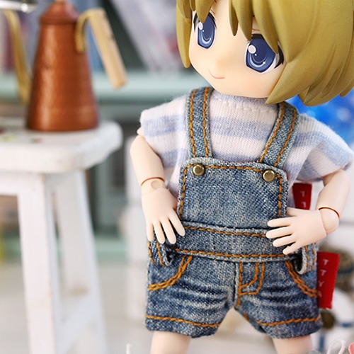 OB11 Washing Short Overall - Blue
