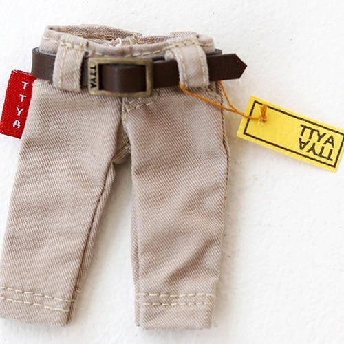 OB11 Washing Cotton Pants - Beige