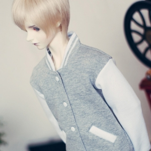 SD17 Boy Baseball Jumper - Gray & White