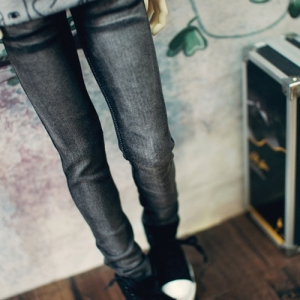 SD17 Boy Real Skinny Washing Jeans - Black