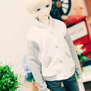SD13 Boy Baseball Jumper - White & Gray
