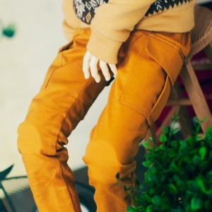SD13 Boy Cargo Pants - Mustard