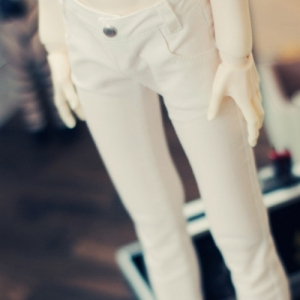 SD13 Boy Color Skinny Pants - White