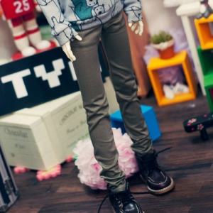 SD13 Boy Skinny Pants  - Khaki