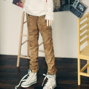 SD13 Boy Washing Cotton Baggy Pants - Beige