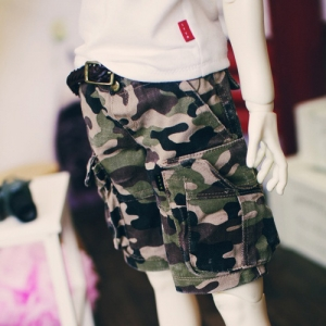 SD13 Boy  Washing Cargo Shorts - Camo