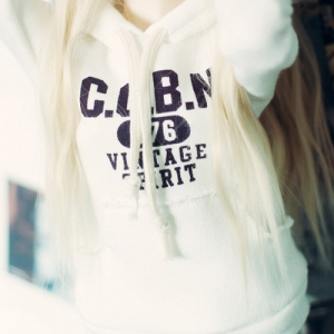 SD13 Girl Vintage Spirit Hooded T - White
