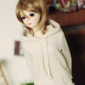 SD13 Girl Long Hooded T - Beige