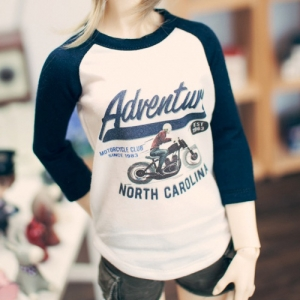 SD13 Girl Adventure Raglan T shirt - Navy
