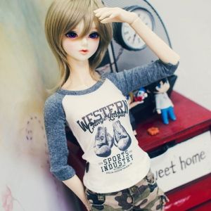 SD13 GIRL Western T shirt - D.Gray