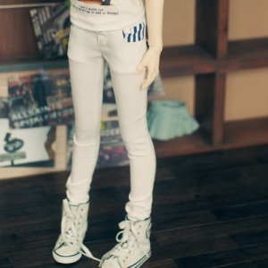 SD13 Girl Pocket Point White Pants - Blue