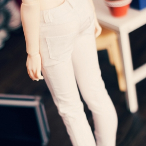 SD13 Girl Color Sknny Pants - White