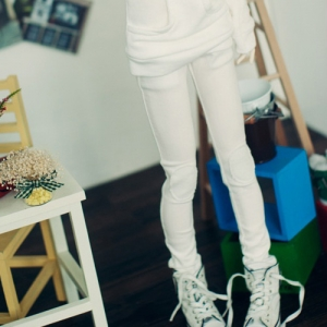 SD13 Girl Neat Skinny Pants - Snow White