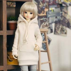 MSD Long Hooded T - Beige