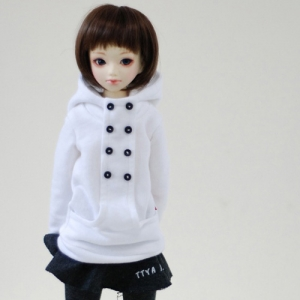 MSD Chic Hooded T - White