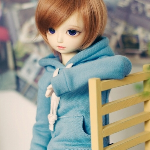MSD Long Hooded T - Sky Blue