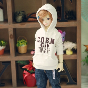 MSD Vintage Spirit Hooded T - White