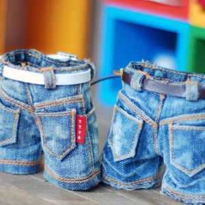 USD Washing Denim Short Pants