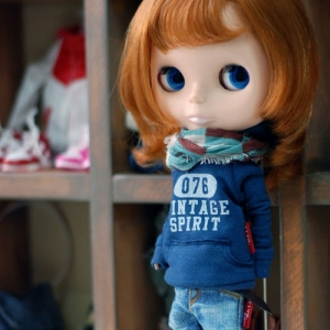 Blythe Vintage Spirit Hooded T - Blue