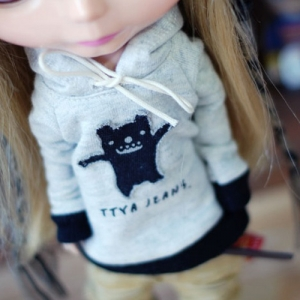 Blythe Cute Monster Hooded T