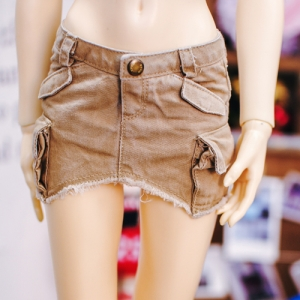 SD13 Girl Vintage Cargo Skirt - Beige