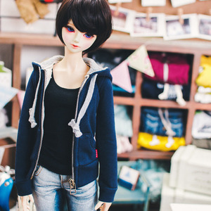 SD13 Girl Hooded Zip­up - Navy