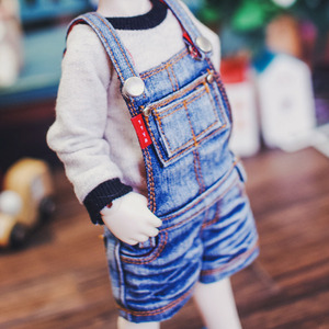 USD New Washing Short Overall - Blue