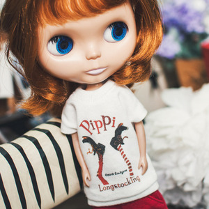 Blythe Pippi Long T shirt - White