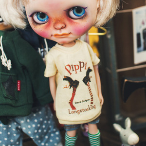 Blythe Pippi Long T shirt - Yellow