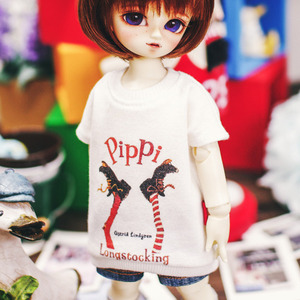 USD Pippi Long T Shirt - White