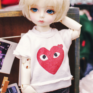 USD Be Funny Heart T shirt  - White
