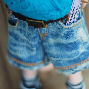 USD Real Vintage Washing Denim Short Pants