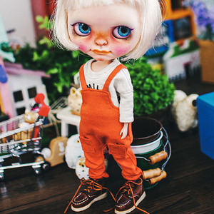 Blythe Baggy Cotton Overall - Orange