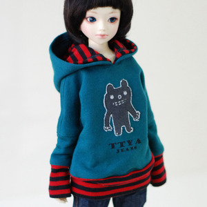 MSD Monster Hooded T - Bluish Green